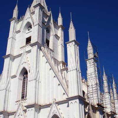 torre de igreja já restaurada